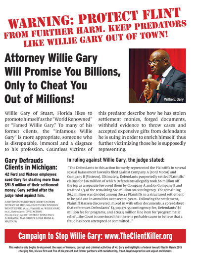 The Case Against Willie Gary: Media Coverage